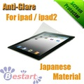 Free Shipping, New Anti-Glare Screen Guard, LCD Screen Protector for ipad ipad2 with Retail Package, Japanese Material