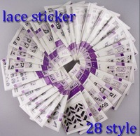 280pcs Nail Art 3D Black & White Colors Lace Stickers Series New Style For Nails Beauty Care Desgin Decals Wholesale 165