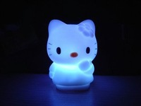 Free Shipping 50pcs/ot hello kitty night light LED 7 colors changing lamp / hello kitty LED night lights /hellokitty lamp