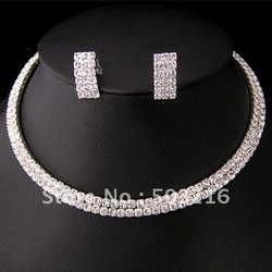 High Quality Hot Selling Promotion Wedding Jewelry Set Mix Color Free Shipping(China (Mainland))