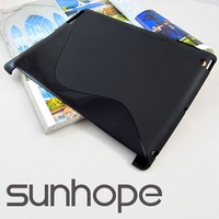 S-line TPU case Smart cover partner for the new ipad ipad 3 ,Manufacturers sell,wholesale/retail,free shiping laptop case