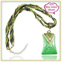 Square Bohemian Braided Necklace Pendant Bohemia Jewellery Pendant Min $10 Can Mix Free Shipping
