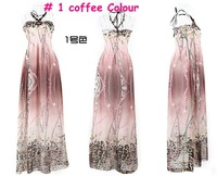 #601 2012 sexy dresses Korean chiffon ,women long /summer dress/3 clors/free shipping