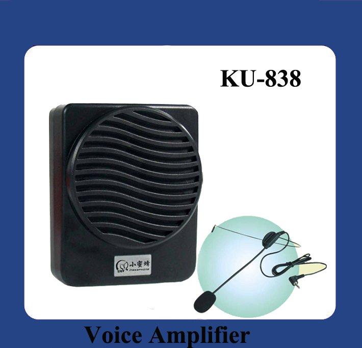 Portable Voice Amplifier Speaker Megaphone KU838 black and white(China (Mainland))