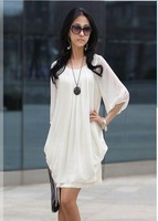 Promotion! New Women's Chiffon Casual Dress 3 colors,Free Shipping