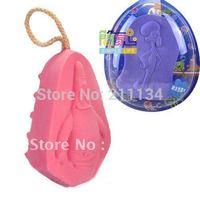 4 Pcs  New Natural Kids Bath Sponges Baby Shower Body Scrubber