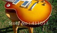 Custom Shop 1958 VOS Plain Top Reissue Iced Tea Sunburst electric guitar @0005