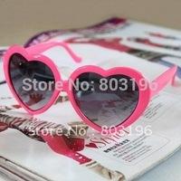 Free Shipping 10PCS Party Fashion Heart girl's sunglasses Mix colors