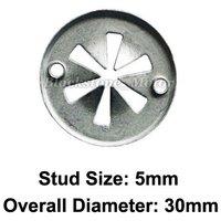 VW Radiator Support Splash Shield Push-On Clip Metal Retainer Dacromet Plated Replace VW N90-796-501, N90-796-502 Diameter 30mm