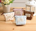 Hot and freeshipping spring blossom cotton zipper coin purses/coin bags/makeup bags,brown pink blue beige color
