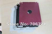 Carbon Fiber Decal Skin Sticker For New iPad 3 Back Sticker For Ipad 3 Back Film via DHL 100pcs/lot