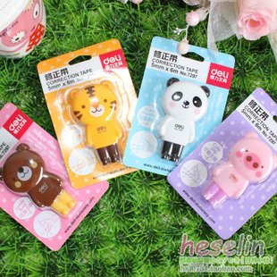 Free shipping, Hot Sells Japan & Korea, cute, lovely cartoon animals correction tape
