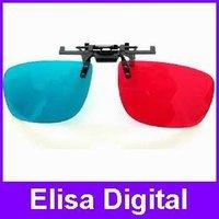 clip 3D glass Red blue 3D stereo glass/3D glasses for myopia lens nearsightedness,RY9013