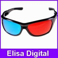 Free shipping+Re-useable sport Style 3D glasses/ Red cyan blue Plastic Framed 3 D Dimensional 3D glasses,RY9014