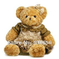 Free shipping! 1pic 85cm Stuffed Bear toys with Brown Skirt Plush Stuffed Teddy Bear Soft Toys Mother's Day / Valentine's Gift