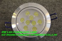 Professional! High Quality Dimmable Epistar 9W LED Downlight With 2800K/4500K/6500K+Driver Free Shipping