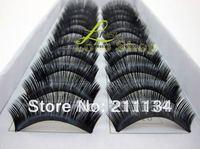 Wholesale Fashion Natural Black Thick Fake False Eyelashes Human Hair , 500 Pairs , Free Shipping!!