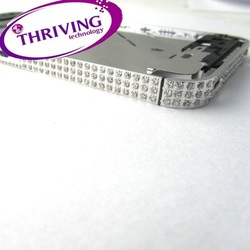 Hot Sale Diamond Plating Plate Bezel Frame Middle Chassis Housing For iPhone 4S Silver Free Shipping(China (Mainland))