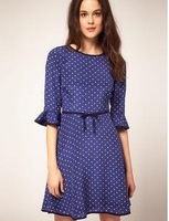 Free shipping!2012 summer  elegant sexy slim V-Neck  dress,plus size clothing,Ladies casual dress