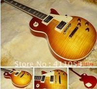 Custom guitar-MAHOGANY body ebony board fretside end with one piece neck BONE nut