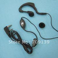 2 pins Headset Walkie Talkie Earphone for Kenwood TK Series Black