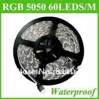 5M 5050 RGB SMD 300 LED 60LED/M Waterproof IP65 Strip Light DC12V