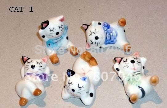 tiny mini ceramic cat rabbit deer figurine toys kids classic educational school(China (Mainland))