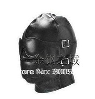 Hot Sex product! Soft leather Mask/eyepatch/gagged/Headgear/sex toys