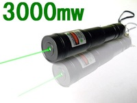 New 3000mw Laser  Green Laser Pointers Green laser flashlight  Lrradiation 5000 meters 532nm  Adjustable focus  Lighting a match
