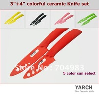"Кухонный нож YARCH 3"" Fruit ABS Straight handle ceramic knife with Scabbard + retail box, 5 color select. 1PCS/lot, CE FDA certified"