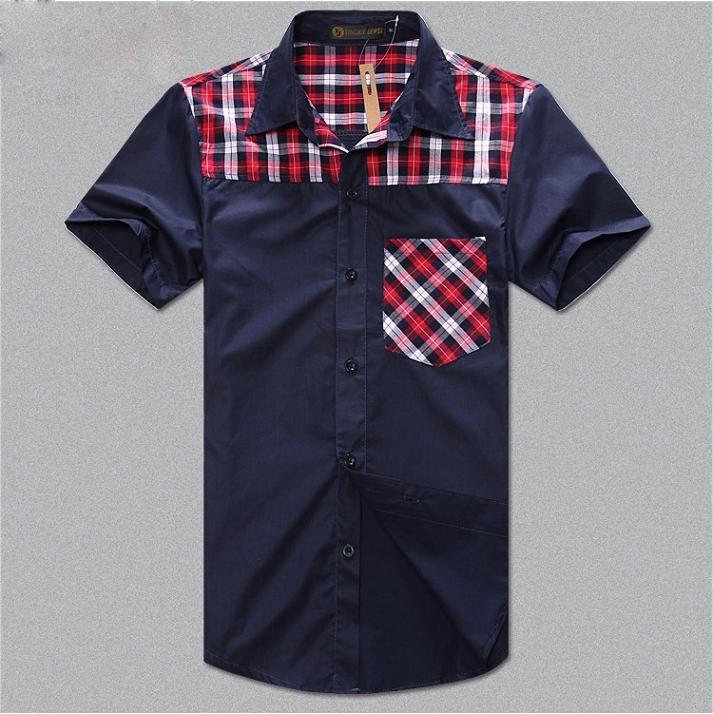 Mens shirt+Men's Casual Slim Fit Stylish Hot Dress Shirts,short sleeve ...