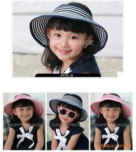 1pcsfree shipping Korea foldable candy cap female baby Children 's empty top sun hats large brimmed beach hat sun hat childdrops