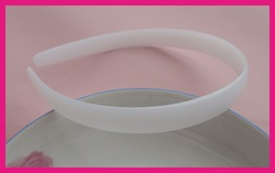 BARGAIN for BULK 14mm white plain plastic half round hair headbands without teeth at eco-friendly material(China (Mainland))