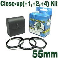 CLOSE UP Filter Emolux 55mm (+1,+2,+4) Kit digital CLOSE-UP Filter CLOSEUP Filter Perfect for macro photography