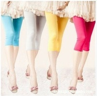 Hotsales summer breeches legging many colors  pants ice silk pants tights for girls Free shipping