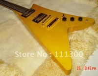 2011 new G custom guitar V-type electric guitar gold