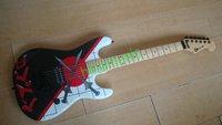 guitars free shipping new e v h chrrvel electric guitar knife painting  maple fretboard hot guitars