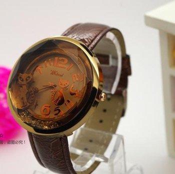 2012 Hot  sale Quartz watch women Watch  girl Wristwatch retail and wholesale free shipping