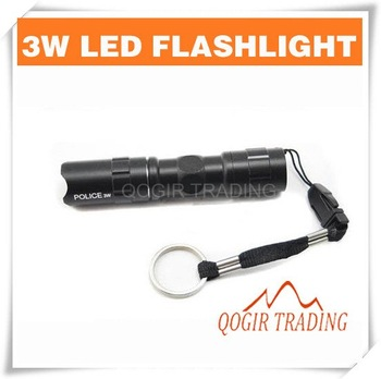 Mini 3W LED Handy Flashlight  Torch For Sporting Camping 6078