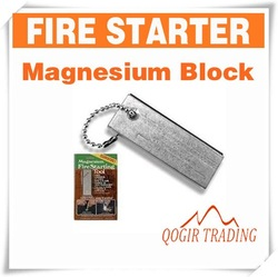 Survival Magnesium Block Flint Fire Starter Striker Firestarter 6119(China (Mainland))