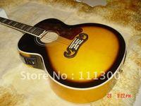 New Arrival SJ200 Acoustic Guitar Honey Sunburst Musical free shipping