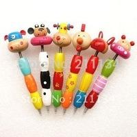 New Novelty! Cartoon Animal Wooden Ballpoint Pen Souvenir Gift  Party Favours 36 pcs, Free Shipping!