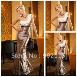 Free Shipping Best Selling Elegant Style Knee Length Mother Of The Groom Dresses2012(China (Mainland))