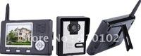 "2pcs/Lot 2.4Ghz wireless video door phone intercom 100m wireless transmission + 2.0 MP camera + 3.5"" TFT LCD monitor"