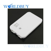 High Quality 5000mAh External Battery Charger Power Bank 2 Dual USB 2A for iPad iPhone Free Shipping UPS DHL HKPAM CPAM