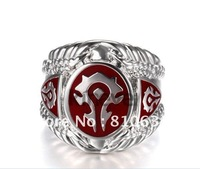 Kineve World OF Warcraft Horde Ring WOW fans' favorite Large Atmosphere Cool Copper-nickel alloy Ring  Great gift for WOW player