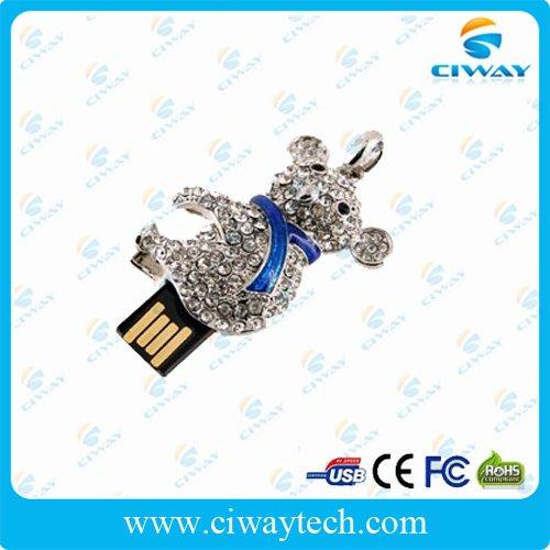 free shipping wholesale 10pcs/lot 4gb animal bear usb pen drive waterproof(China (Mainland))