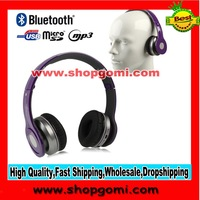 S450 Bluetooth Stereo On-Ear With Control Talk and TF Card Slot Headphone (purple color)