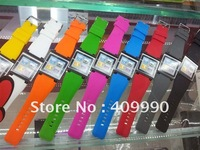 DHL,10pcs/lot High Quality iWatchz Nano Clip system wrist watch band strap for iPod Nano 6 with Retail box,mix color,Wholesale