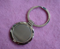 blank key holder, car key buckle, zinc alloy high polish keyring, round keychain